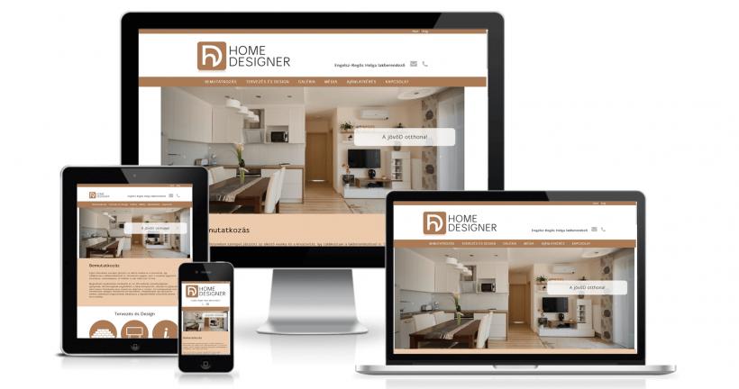 Home Designer weboldala