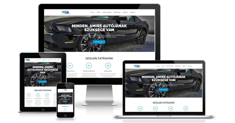 HTK Auto weboldala